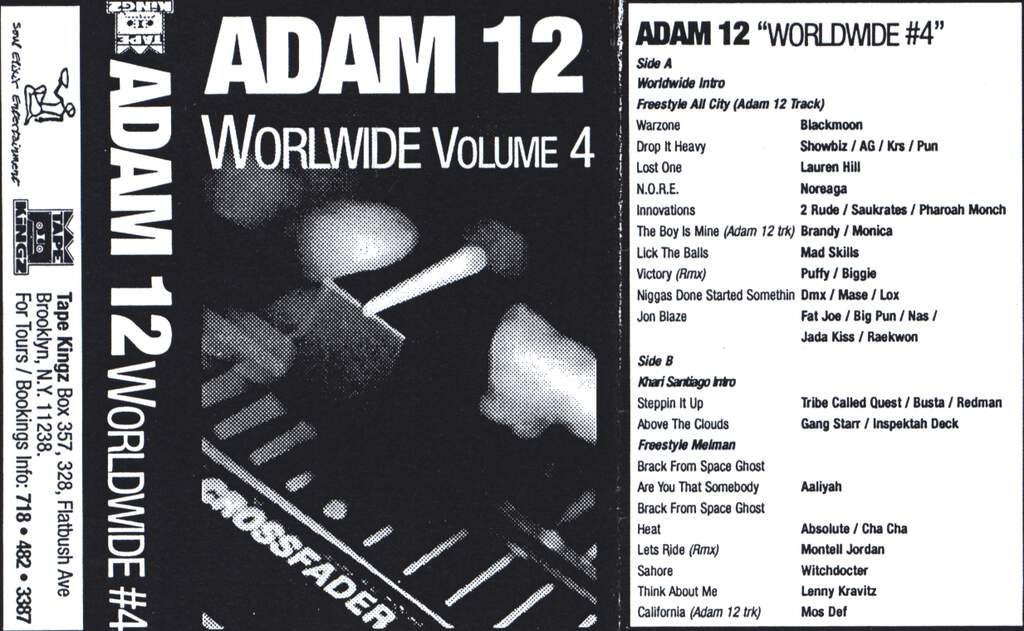 DJ Adam 12: Worldwide Volume 4, Compact Cassette