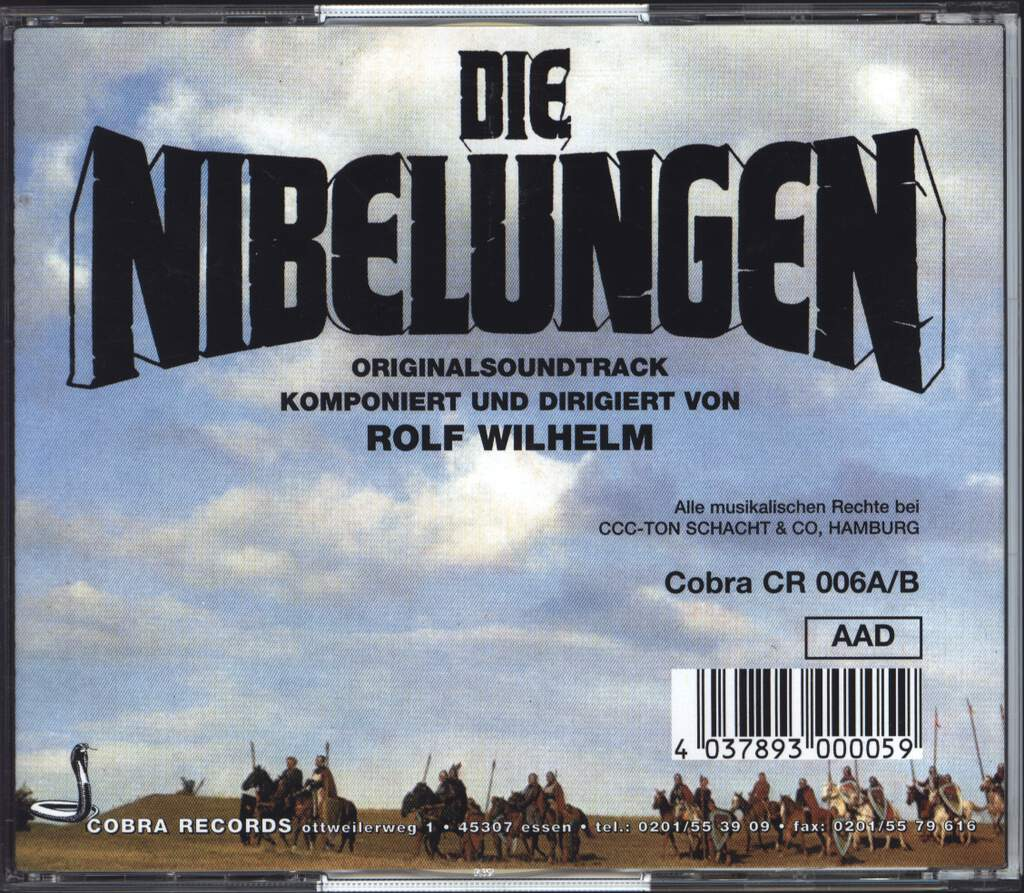 Die Nibelungen Soundtrack (1966) - moviemusic.com