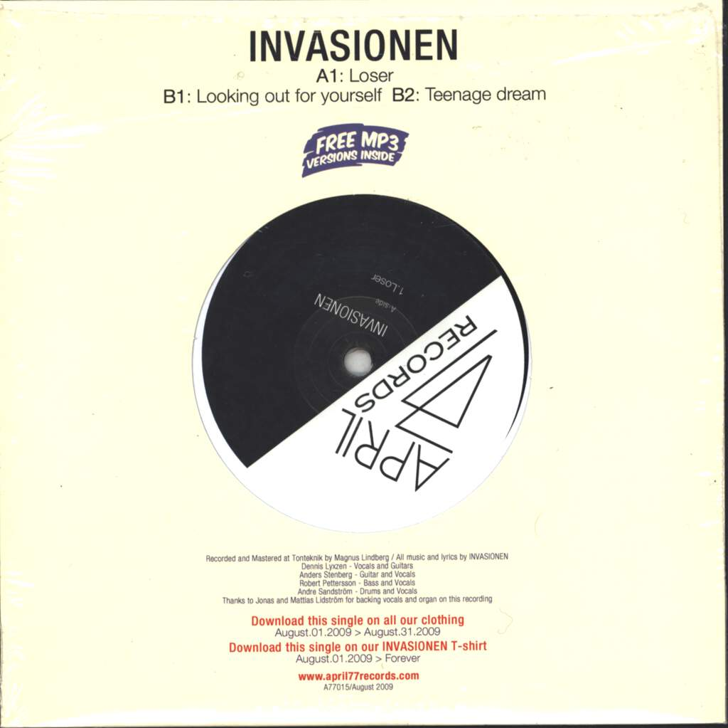 "Invasionen: Invasionen, 7"" Single (Vinyl)"