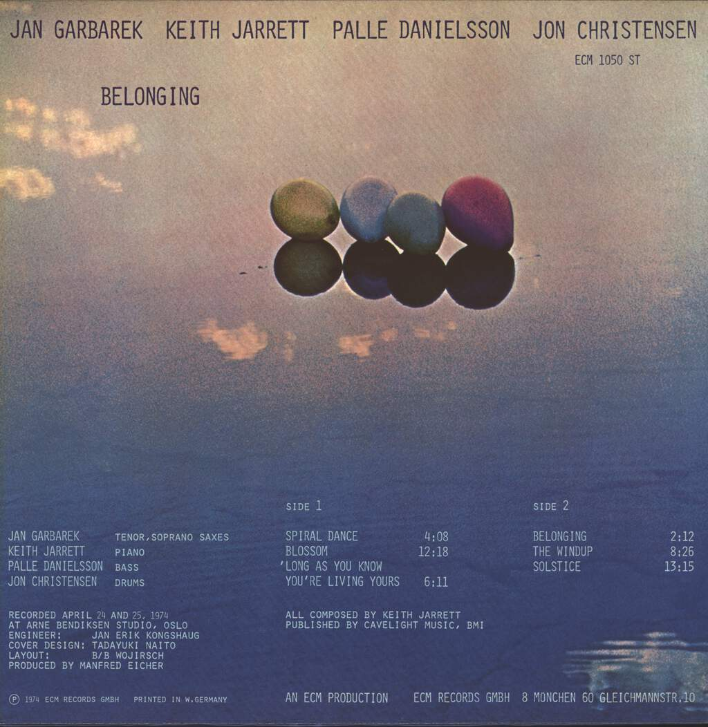 Jan Garbarek: Belonging, LP (Vinyl)