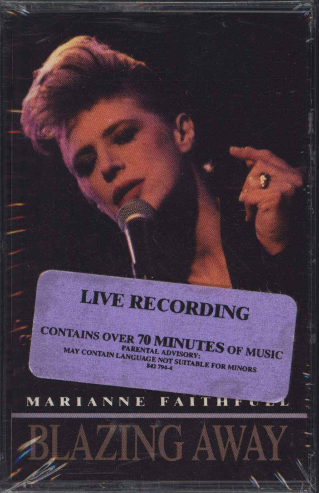 Marianne Faithfull: Blazing Away, Compact Cassette