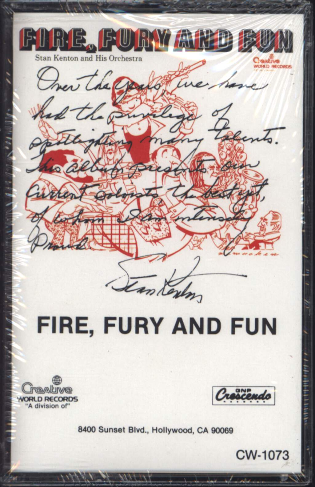 Stan Kenton And His Orchestra: Fire, Fury And Fun, Compact Cassette