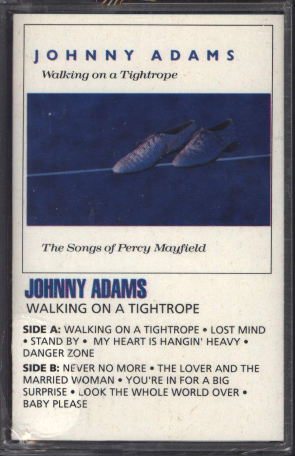 Johnny Adams: Walking On A Tightrope – The Songs Of Percy Mayfield, Compact Cassette