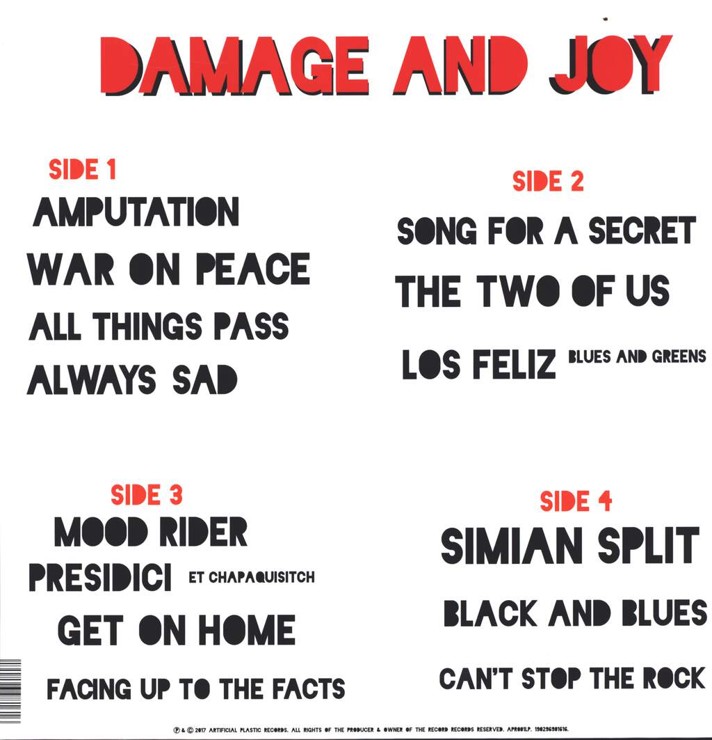 The Jesus And Mary Chain: Damage And Joy, LP (Vinyl)