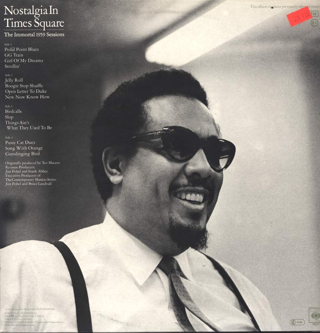 Charles Mingus: Nostalgia In Times Square / The Immortal 1959 Sessions, LP (Vinyl)