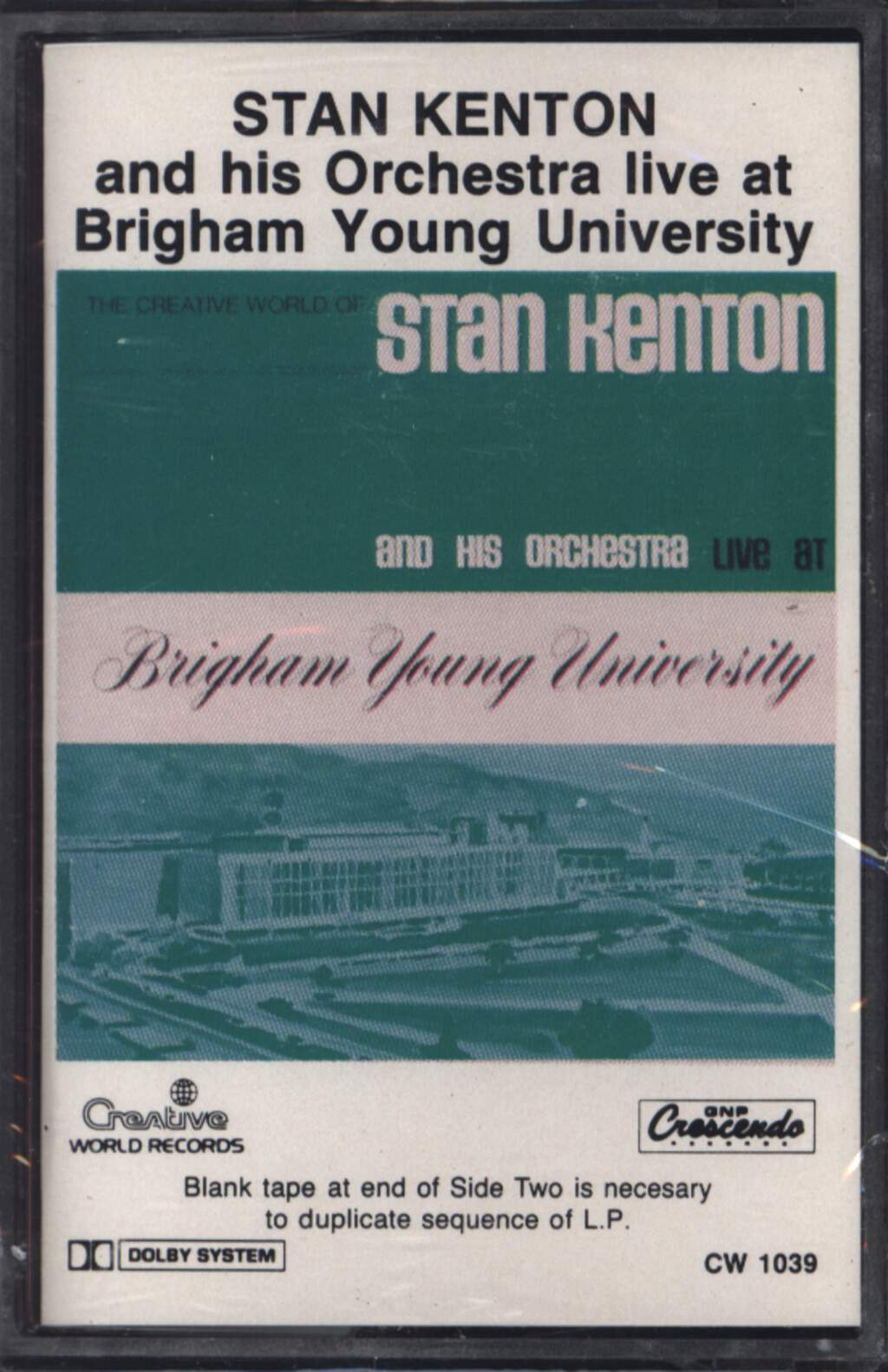 Stan Kenton And His Orchestra: Live At Brigham Young University, Compact Cassette