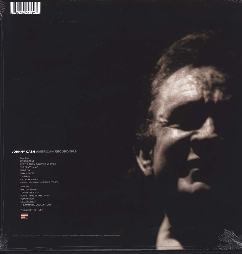 Johnny Cash: American Recordings, LP (Vinyl)