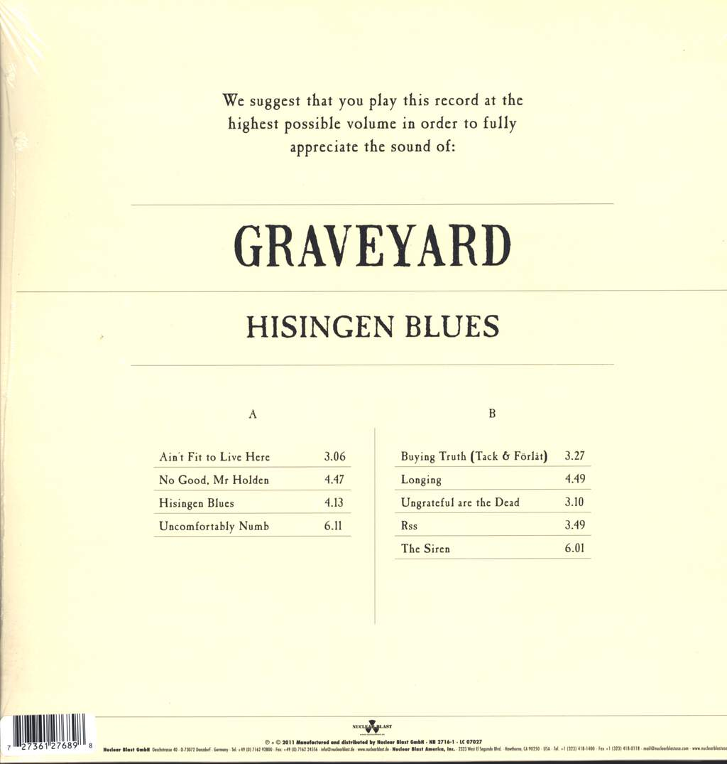 Graveyard: Hisingen Blues, LP (Vinyl)