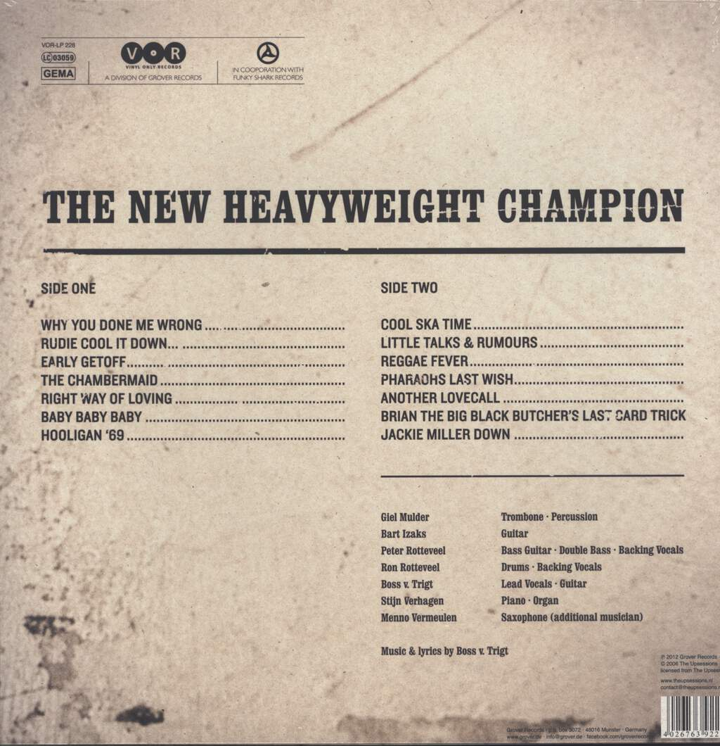 The Upsessions: The New Heavyweight Champion, LP (Vinyl)