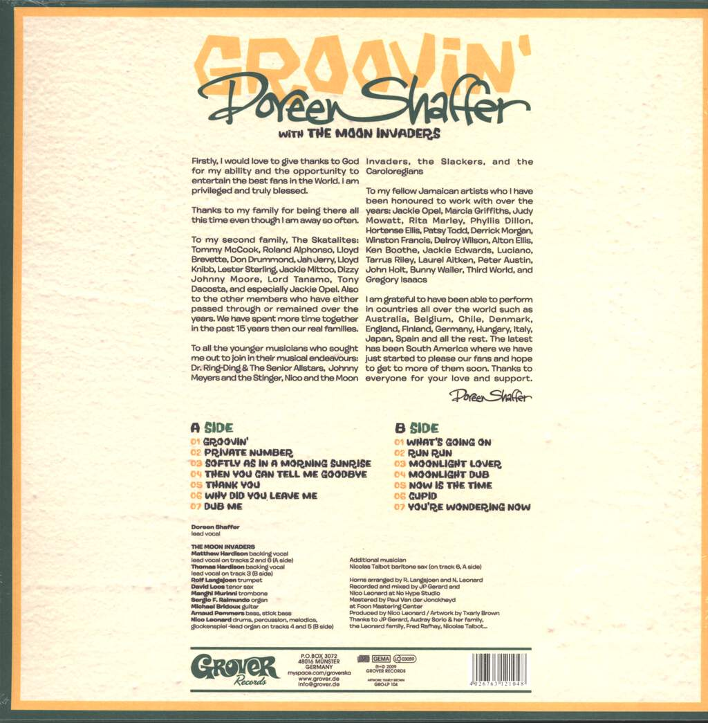 Doreen Shaffer: Groovin' With The Moon Invaders, LP (Vinyl)