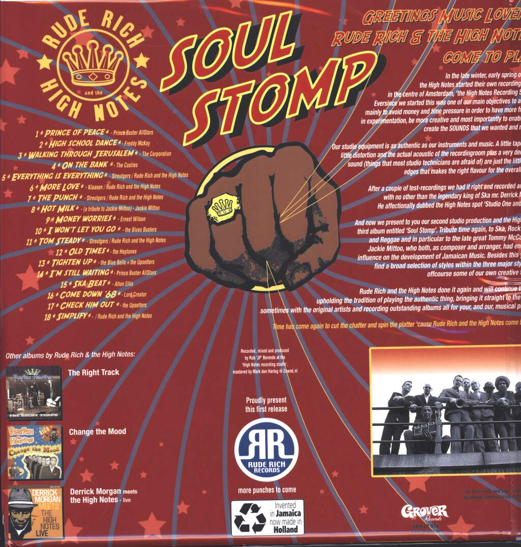 Rude Rich And The High Notes: Soul Stomp, LP (Vinyl)