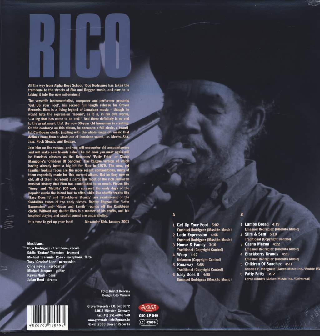 Rico + His Band: Get Up Your Foot, LP (Vinyl)
