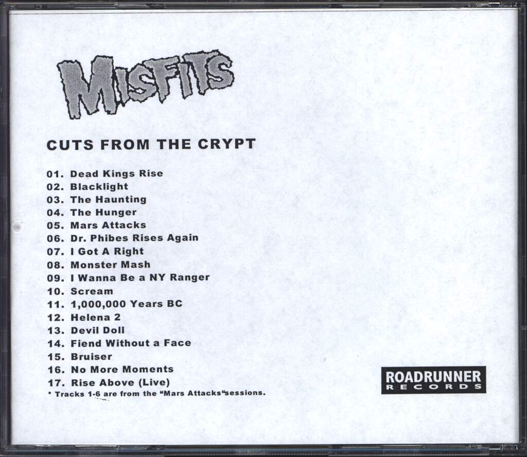 Misfits: Cuts From The Crypt, CD
