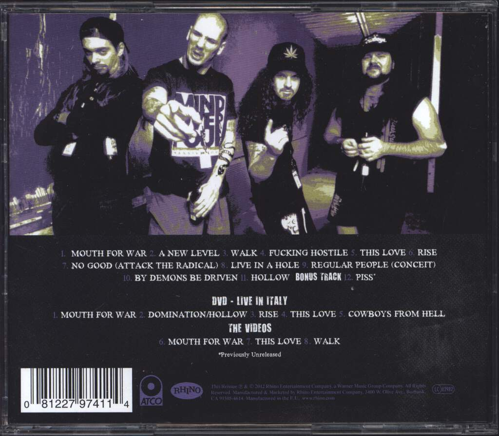 Pantera: Vulgar Display Of Power, CD