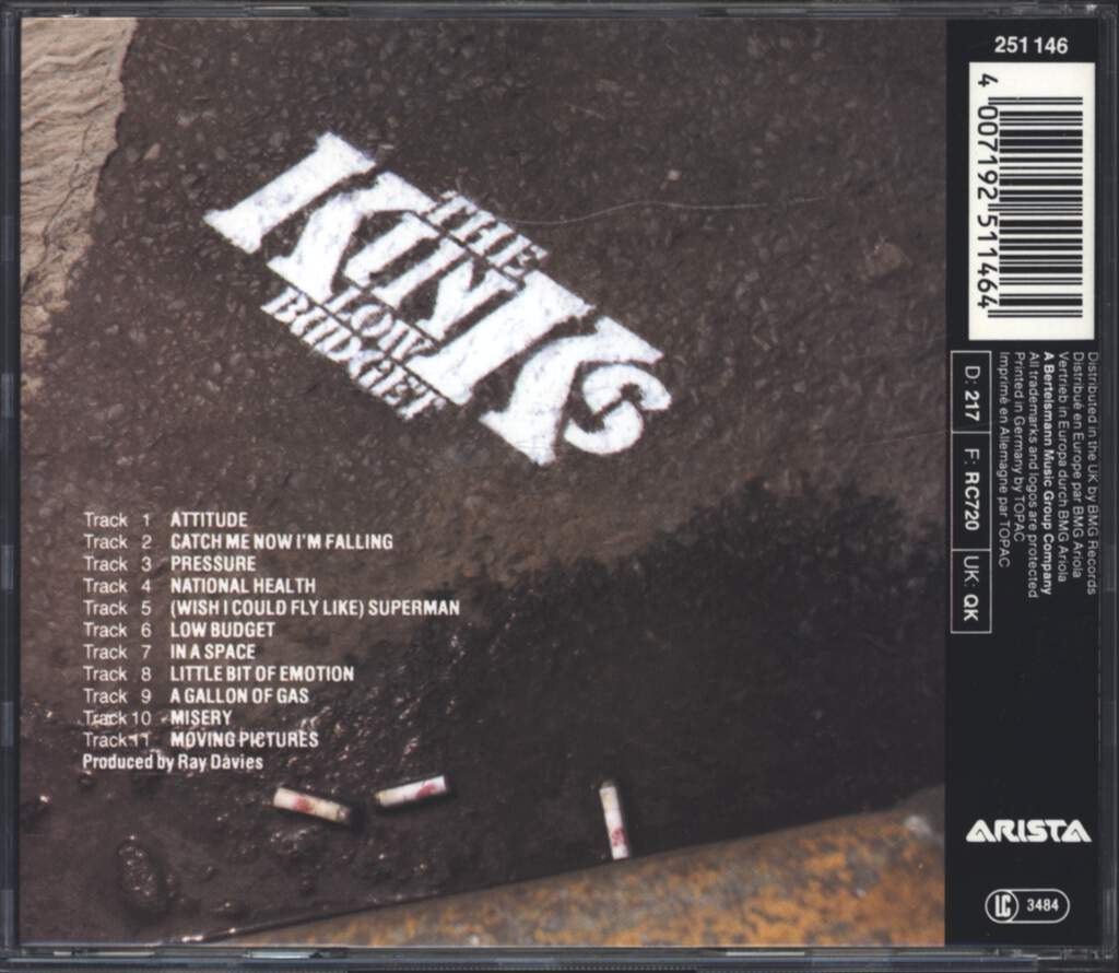 The Kinks: Low Budget, CD