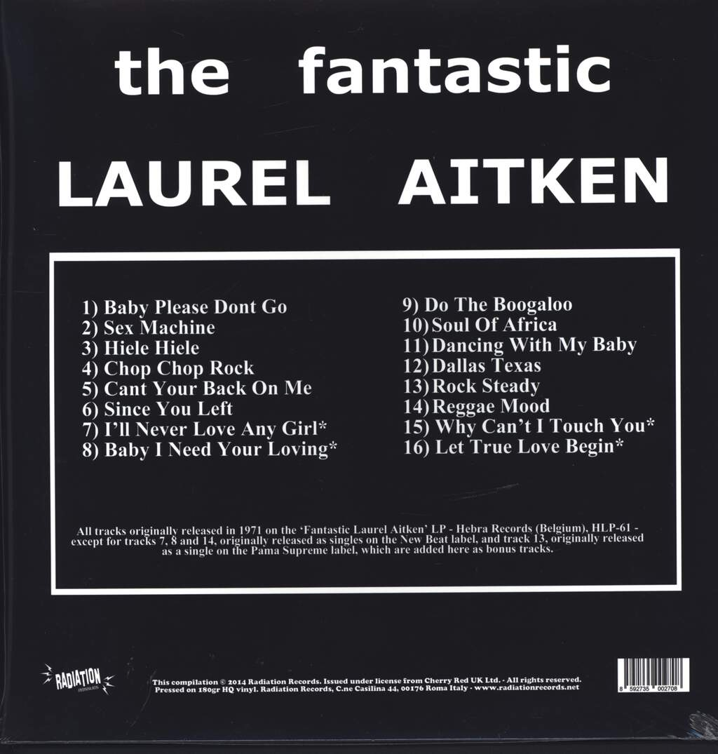 Laurel Aitken: The Fantastic Laurel Aitken, LP (Vinyl)