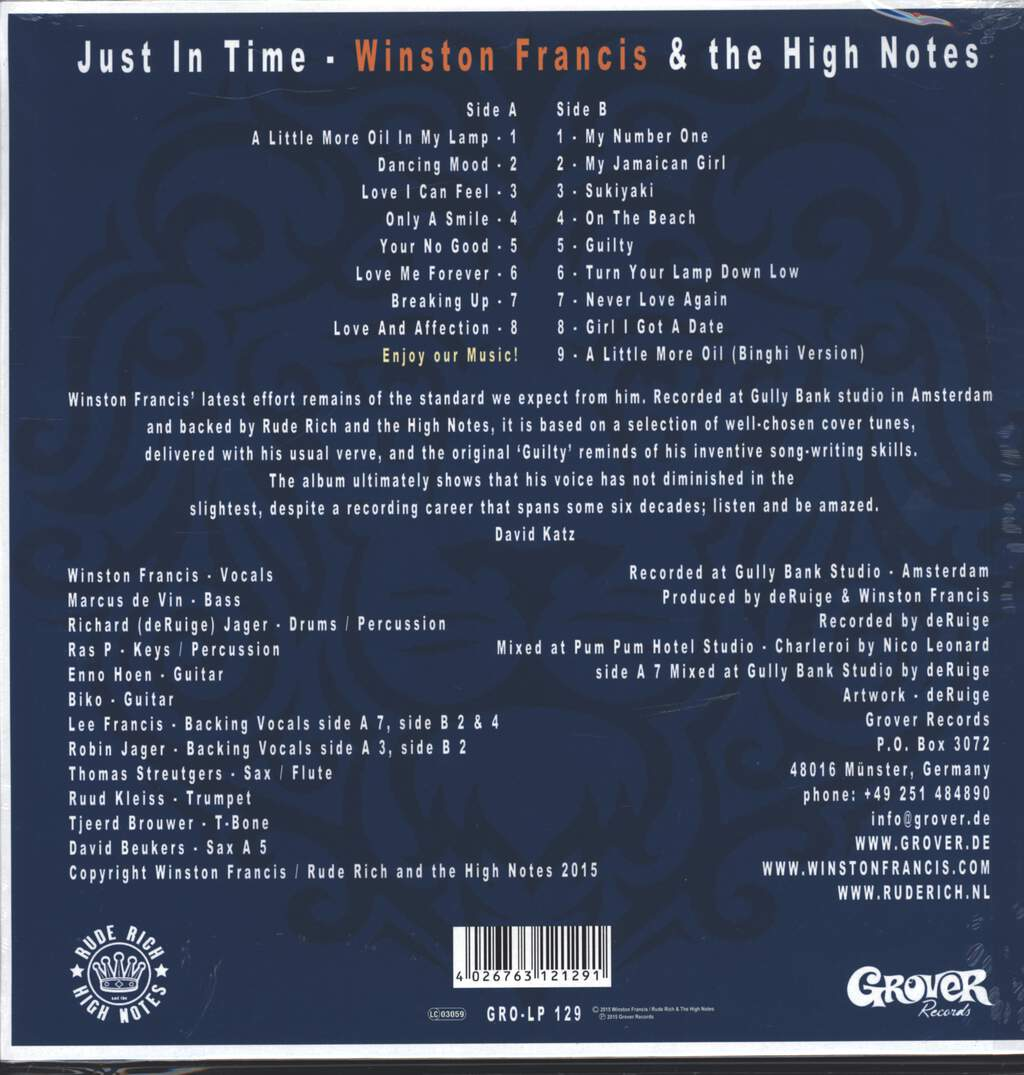 Winston Francis: Just in Time, LP (Vinyl)