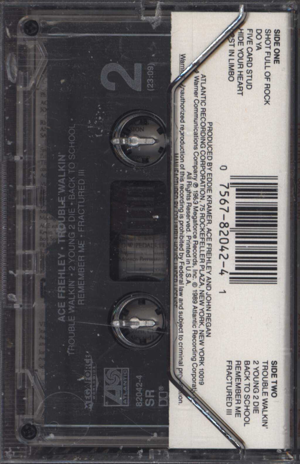 Ace Frehley: Trouble Walkin', Compact Cassette