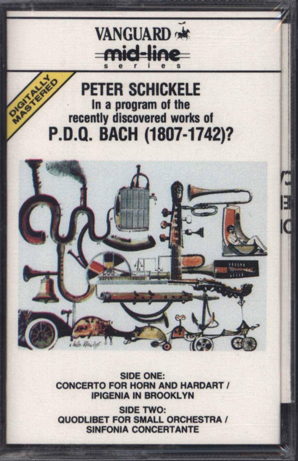 Peter Schickele: Peter Schickele Presenting P.D.Q. Bach (1807-1742)? Chamber Orchestra Under The Direction Of Jorge Mester, Compact Cassette