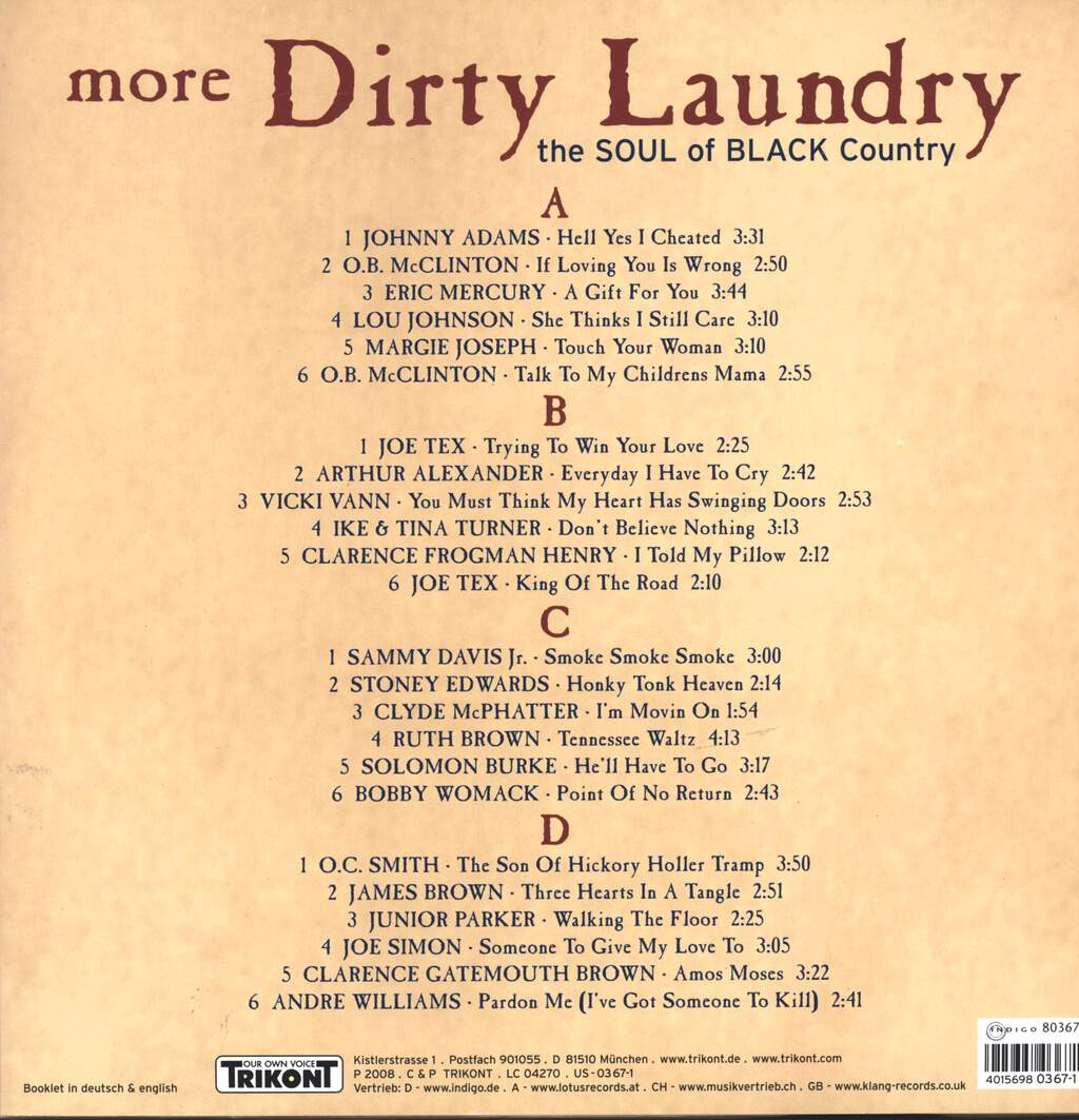 Various: More Dirty Laundry: The Soul Of Black Country, LP (Vinyl)