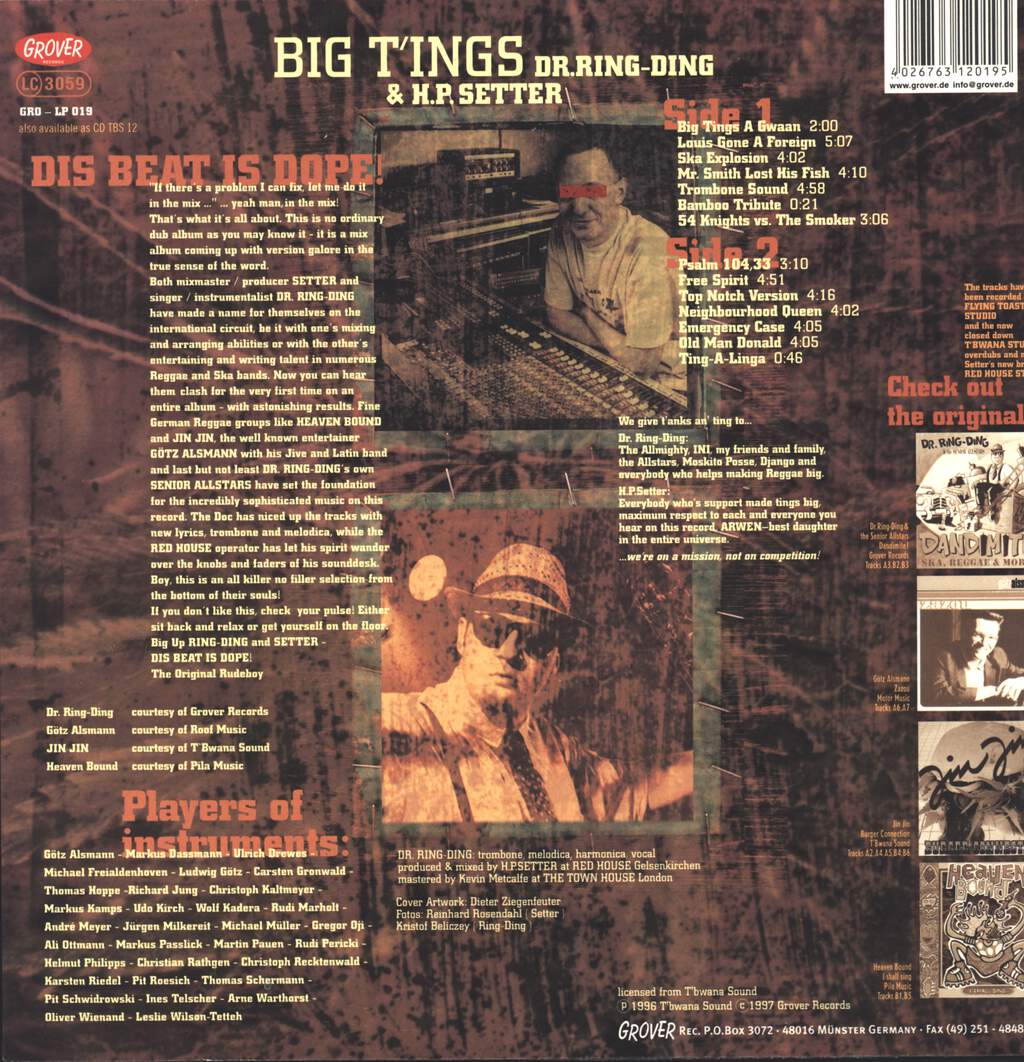 Dr. Ring-Ding: Big T'ings, LP (Vinyl)
