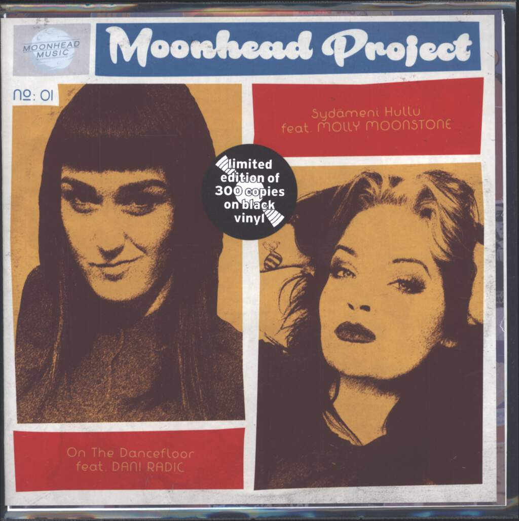 "Moonhead Project: On The Dancefloor / Sydämeni Hullu, 7"" Single (Vinyl)"