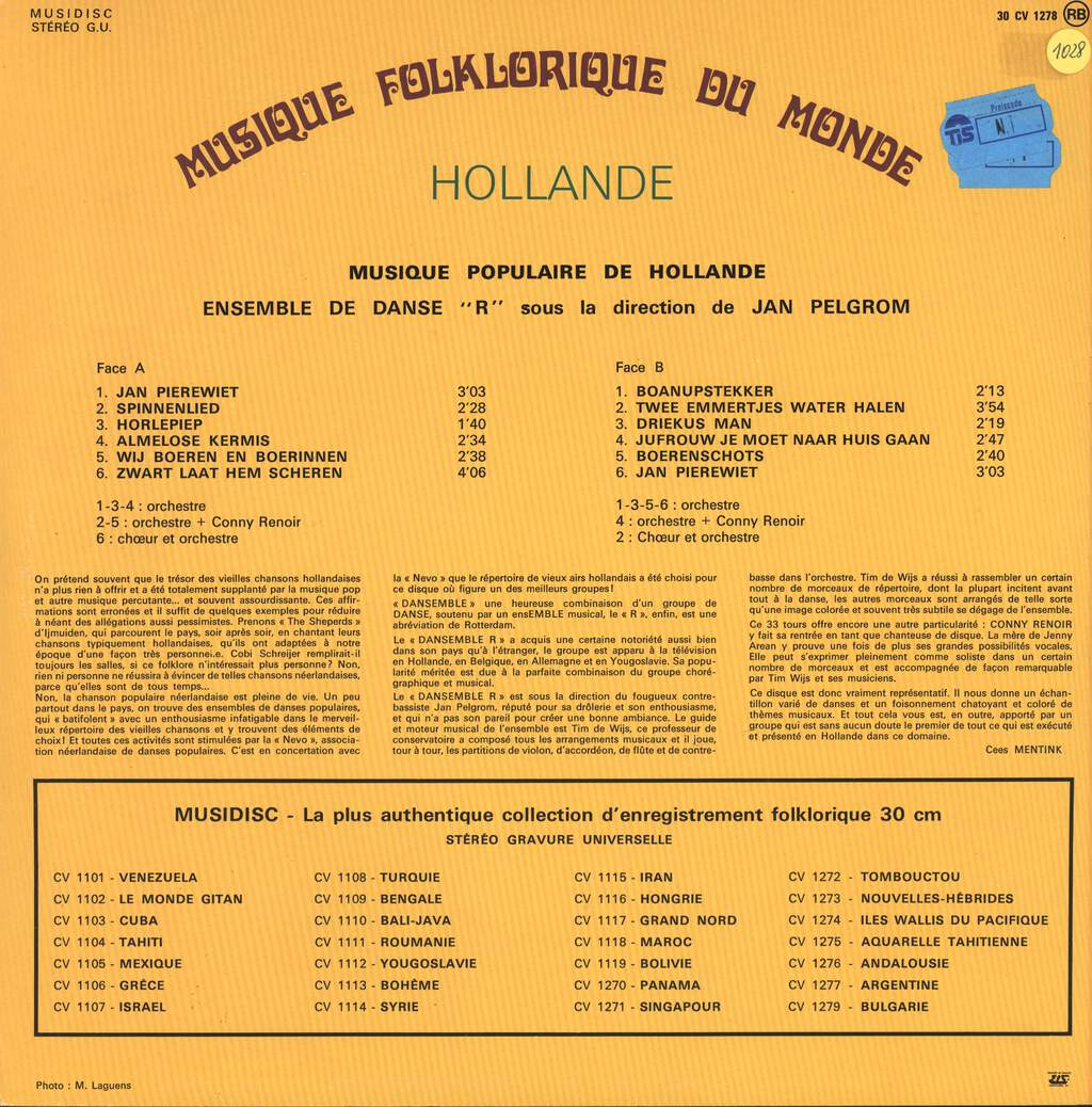 Ensemble Radostan: Hollande, LP (Vinyl)