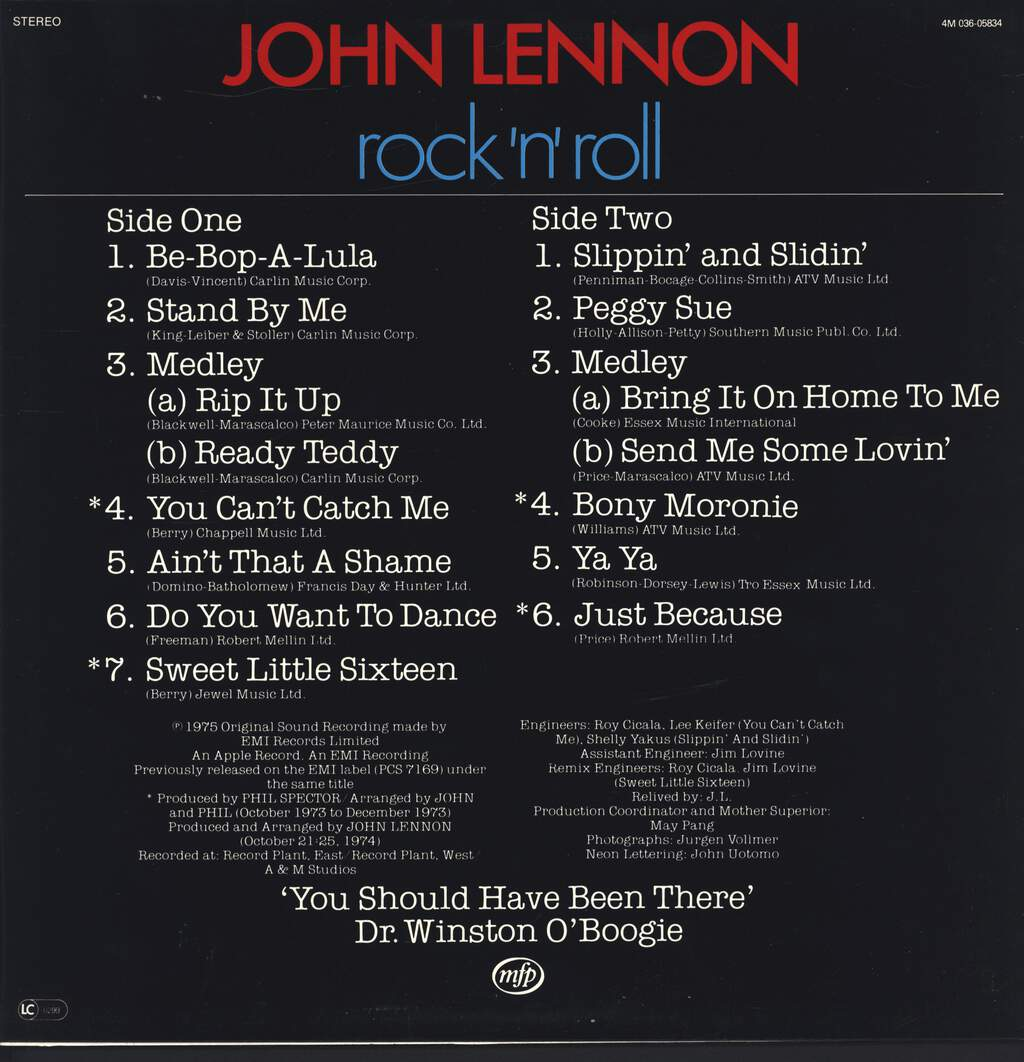 John Lennon: Rock 'N' Roll, LP (Vinyl)