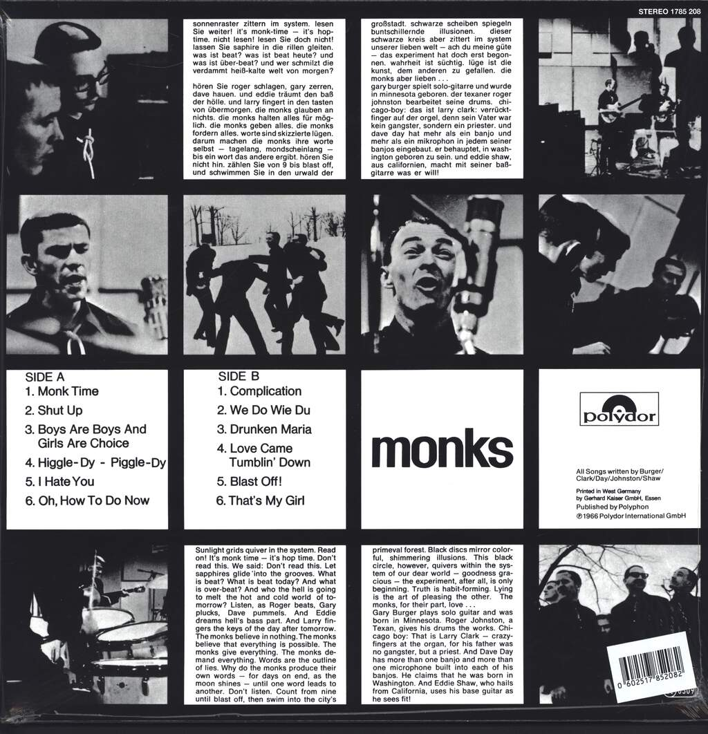 The Monks: Black Monk Time, LP (Vinyl)