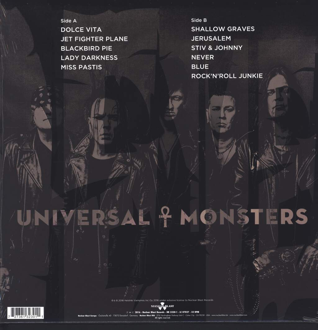 The 69 Eyes: Universal Monsters, LP (Vinyl)