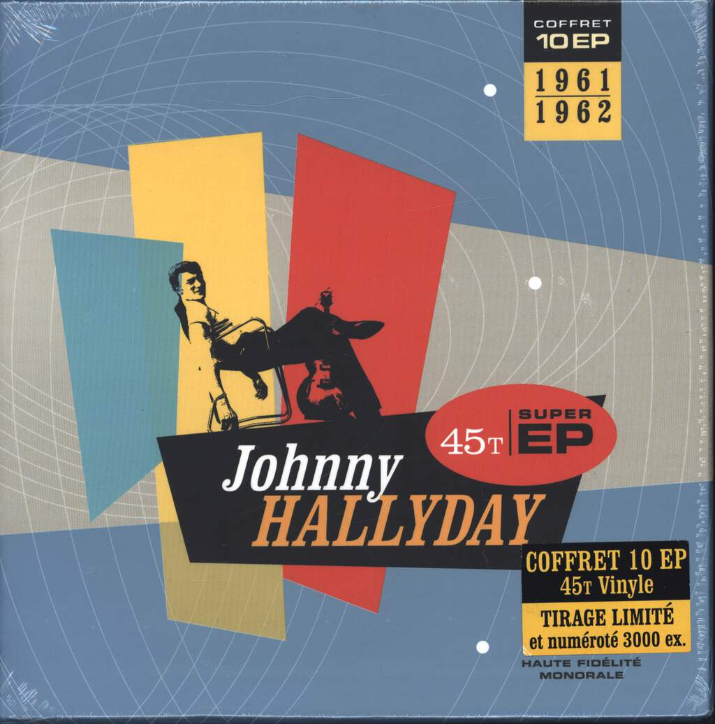 "Johnny Hallyday: Coffret 10 Ep 1961-1962, 7"" Single (Vinyl)"