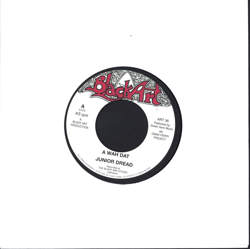 "Junior Dread: A Wah Dat / Dat Dub, 7"" Single (Vinyl)"
