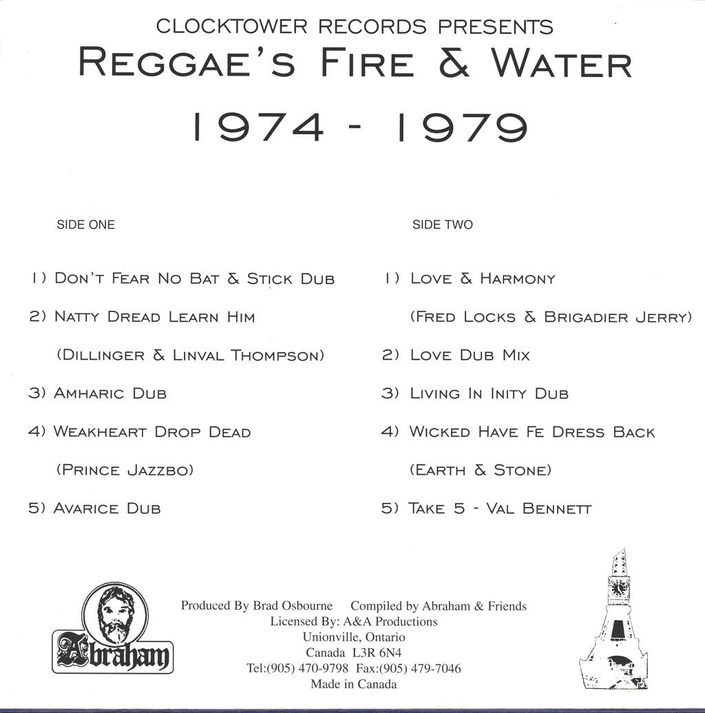 Various: Reggae's Fire & Water 1974-1979, LP (Vinyl)