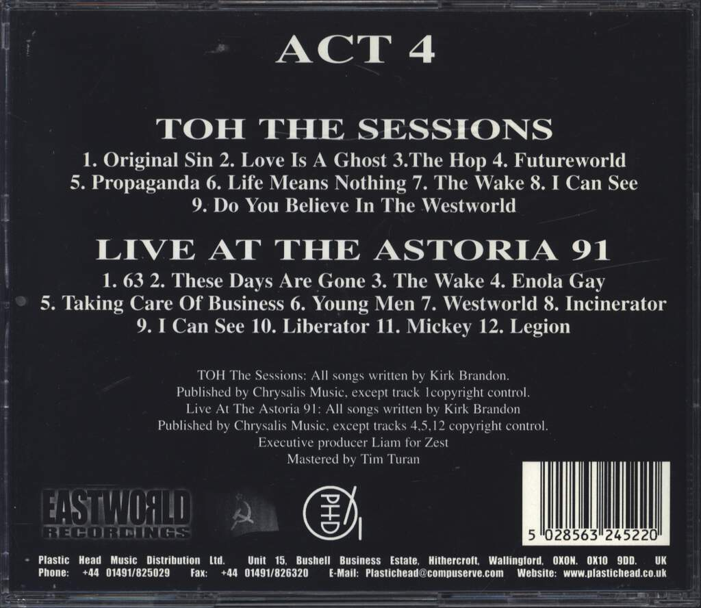 Theatre Of Hate: Act 4, CD