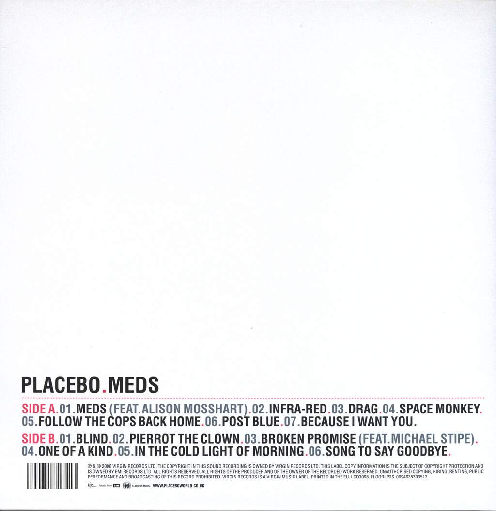 Placebo: Meds, LP (Vinyl)