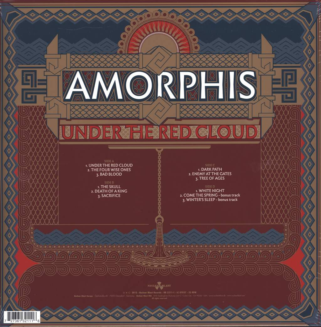 Amorphis: Under The Red Cloud, LP (Vinyl)