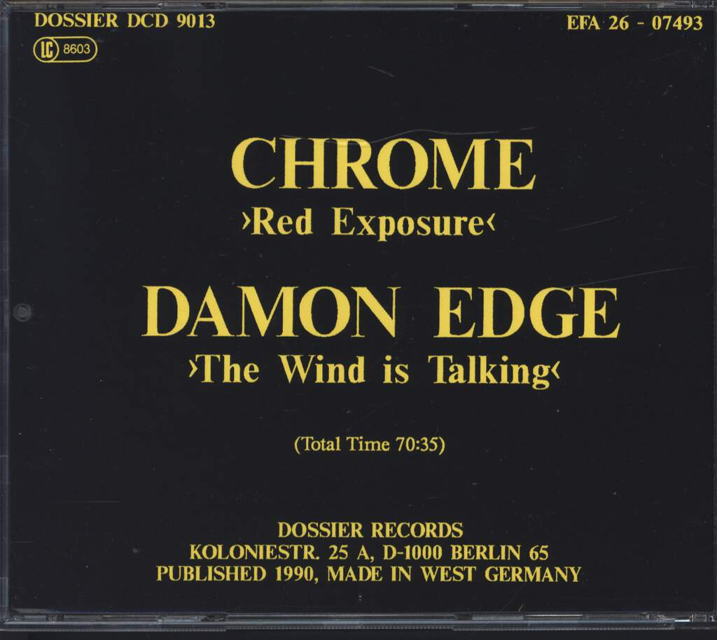 Chrome: Red Exposure / The Wind Is Talking, CD