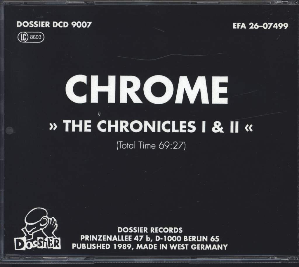 Chrome: The Chronicles I & II, CD
