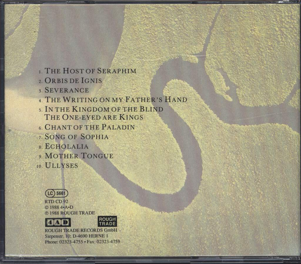 Dead Can Dance: The Serpent's Egg, CD