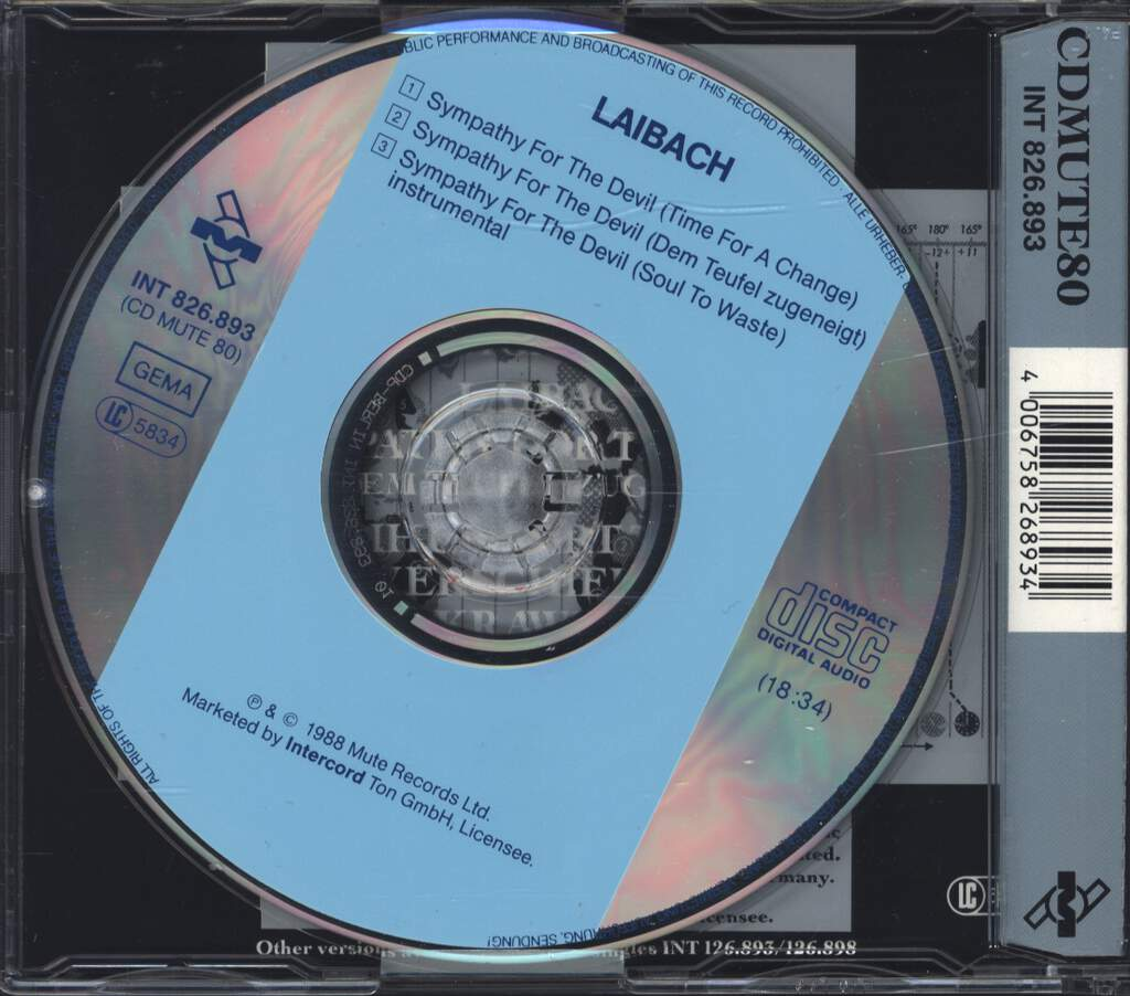 Laibach: Sympathy For The Devil, Mini CD