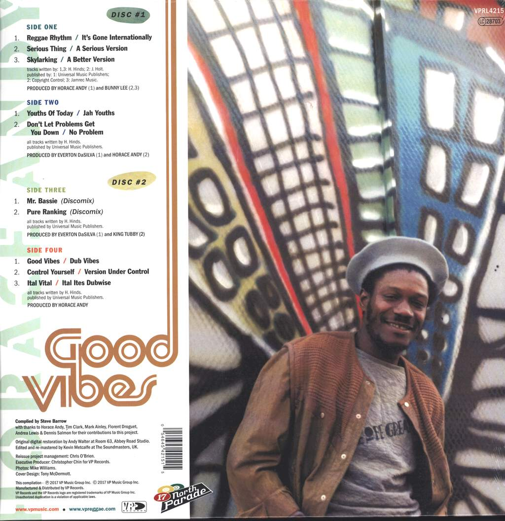 Horace Andy: Good Vibes, LP (Vinyl)