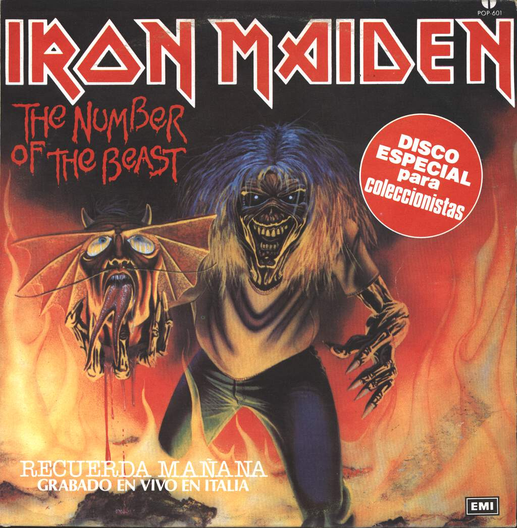 "Iron Maiden: The Number Of The Beast, 12"" Maxi Single (Vinyl)"