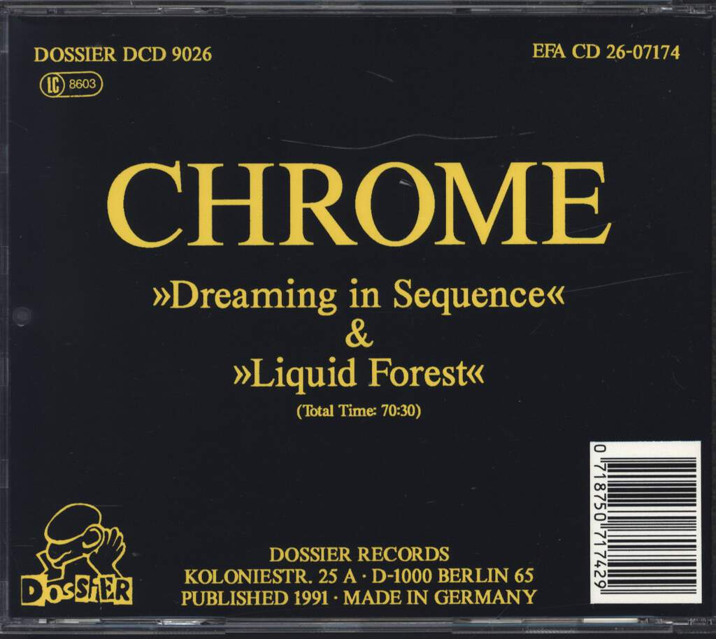Chrome: Dreaming In Sequence / Liquid Forest, CD