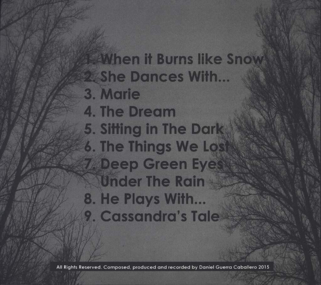 Under The Rain: When it Burns Like Snow, CD