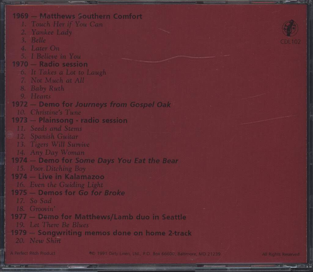 Iain Matthews: Orphans & Outcasts (A Collection Of Demos) Volume 1 - 1969-1979, CD