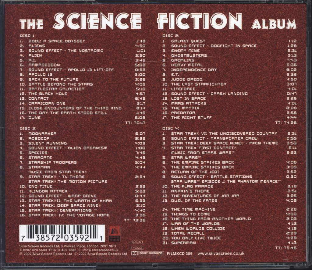 The City Of Prague Philharmonic: The Science Fiction Album, 4×CD