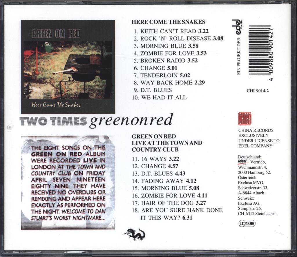 Green On Red: Two Times, CD