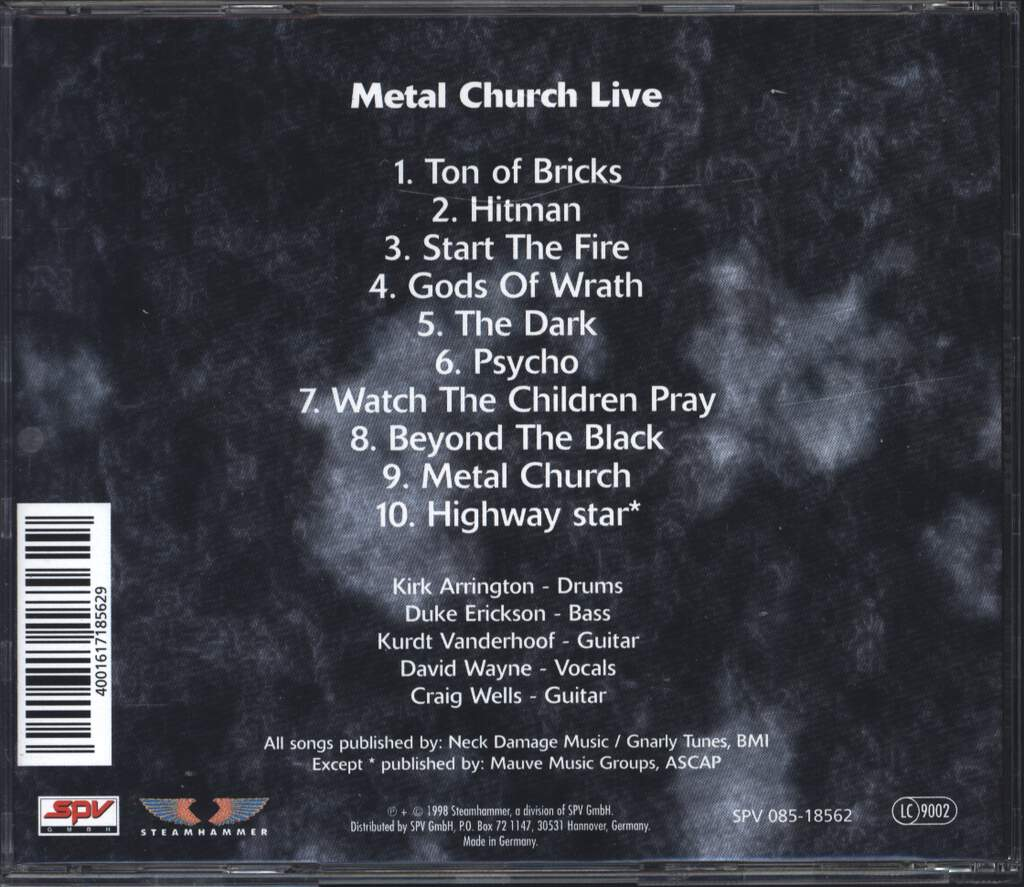 Metal Church: Live, CD