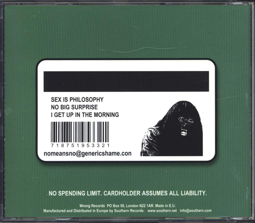 Nomeansno: Generic Shame, Mini CD