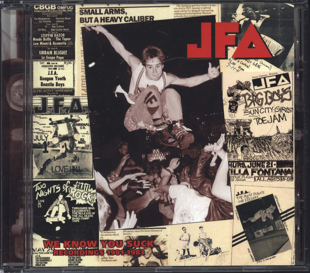 J.F.A.: We Know You Suck, CD